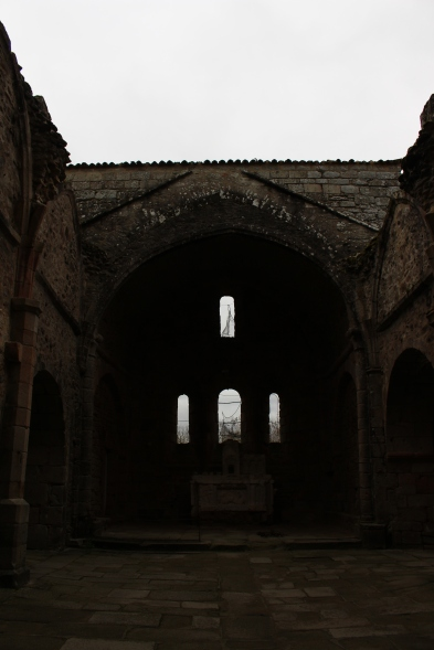 Oradour's burnt out church