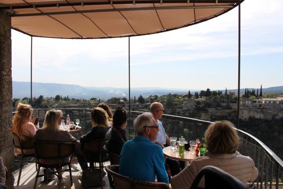 the balcony at Club des Republicains
